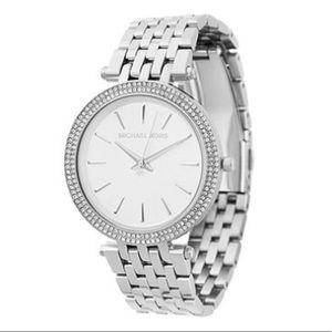 Michael Kors Darci silver tone watch diamonds